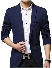 SWISSWELL Herren Slim Fit Sakko Blazer Anzug Jacke EIN-Knopf Casual 2018 Collection Männer Freizeit Anzugssakko,