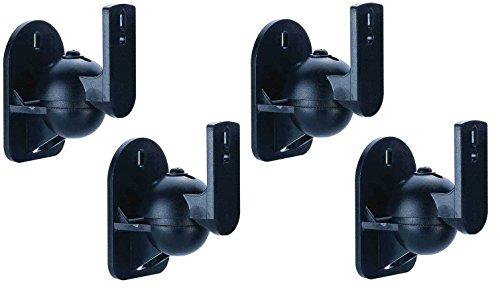 2x Lautsprecherhalterung Wandhalterung Halterung Paar für Lautsprecher Speaker Boxen Soundsysteme HARMAN KARDON BOSE JBL HECO TEUFEL LG PANASONIC YAMAHA LOGITECH SAMSUNG CANTON PLUS MX.3 SAMSUNG HT-E4500 SONY BDV-N590 PIONEER HTP-071 Logitech Z103 Z906 Z5500 BOSE COMPANION ACOUSTIMASS AUNA CANTON MOVIE 70 130 160 YAMAHA NS-P110 , MSP3 , NS-P60 PHILIPS HTS3541/12 JBL CONTROL ONE