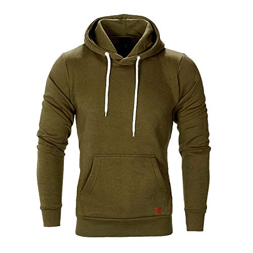 Sweat à Capuche Homme, Printemps Automne Hiver Sweat-Shirt Manteau Veste AméLiorer Pas Cher Hoodies LâChe DéContracté Pullover Sweat-Shirt Chemisier (Vert, L)