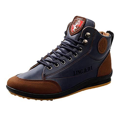JiaMeng Unisex Uomo Donna, Scarpe da Ginnastica Corsa Sportive Fitness Running Sneakers Basse Interior Casual all'Aperto (Blu Scuro,EU 41)
