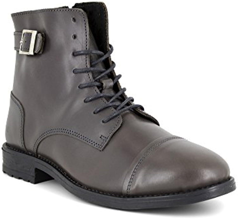 Botin J.Bradford Cuero Gris JB-Alvaro  Zapatos de moda en línea Obtenga el mejor descuento de venta caliente-Descuento más grande