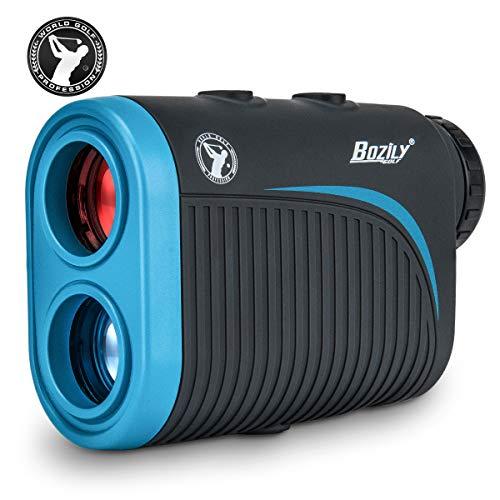 Bozily Golf Entfernungsmesser, 6X Wiederaufladbarer Laser Rangefinder, 1200 Yards Lasermessgerät mit Neigungsverstellung, Flag-Lock, 4 Scan Modus, Continuous Scan Unterstützung, Turnier Zugelassener