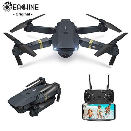EACHINE Drohne mit Kamera E58 Live Übertragung,120°Weitwinkel 720P HD Kamera, WiFi FPV Quadrocopter, App-Steuerung, One Key Start/Landung,Headless Modus,Pocket Drohne für Anfänger,