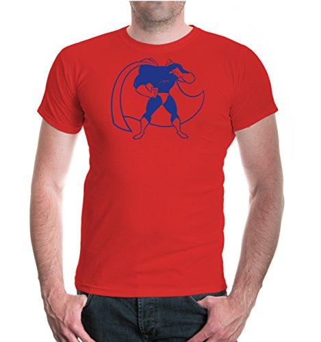 buXsbaum® T-Shirt Superheld Red-Royal