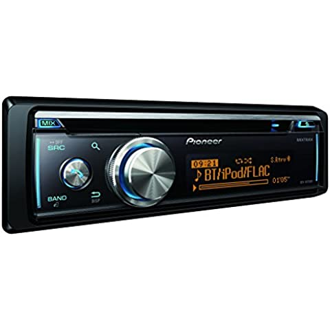Pioneer DEH-X8700BT - Radio CD con Bluetooth, USB y entrada Aux, color negro