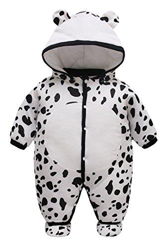 101a578d0bf49 Y-BOA Costume Combinaison Barboteuse Capuche Dors Bien Bébé Fille Garçon  Pyjama Coton Vache 3