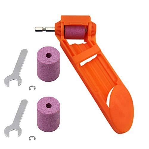 Spiralbohrer Schärfgerät Bohrer Schärfwerkzeug Tragbarer Diamant Bohrer Bohrer Schleifmaschine für Bohrspitze Hohe Härte Schärfer Diamant Handwerkzeug (Orange)