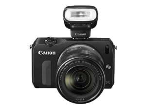 Canon EOS M Systemkamera (18 Megapixel, 7,7 cm (3 Zoll) Display, Full-HD, Touch-Display) Kit inkl. EF-M 18-55mm 1:3,5-5,6 IS STM Objektiv und Speedlite 90EX schwarz