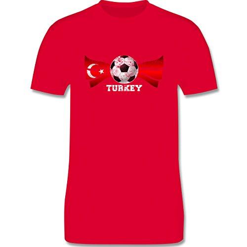 EM 2016 - Frankreich - Turkey Fußball Vintage - Herren Premium T-Shirt Rot