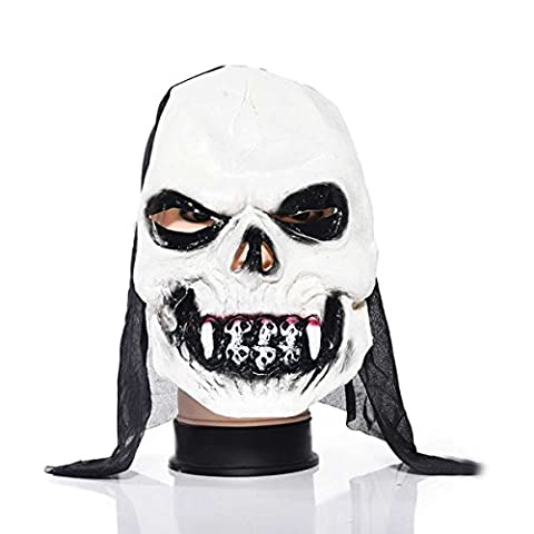 Halloween Latex Zombie Mask Haunted House Dress Up Dance Horror Mask,D-M