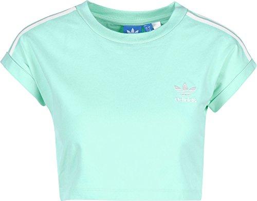 adidas Damen Cropped Top Shirt, Grün-(Versen), 38 Preisvergleich