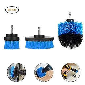 Mallalah – Cepillo de limpieza para taladro eléctrico, 3 unidades, para decapante de cocina, cuartos de baño, baldosas y baldosas sobre la superficie de las juntas de neumáticos de coche