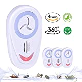 4 Pack Ultrasonic Pest Repeller Upgraded   Electronic Plug In Pest Control Indoor