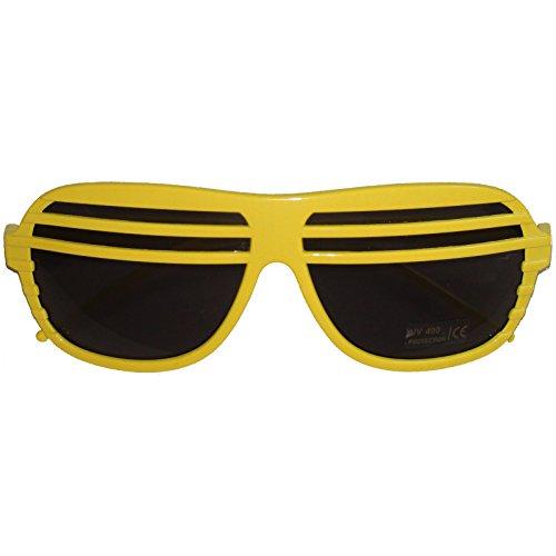 Spassprofi Gelb Schwarze Atzenbrille Sonnenbrille Shutter Shades Atzenbrillen Brille Partybrille