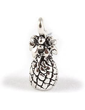 Sterling Silber 3D Charm Ananas