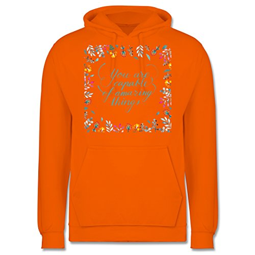 Statement Shirts - You are capable of amazing things - Männer Premium Kapuzenpullover / Hoodie Orange