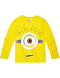 Minions Despicable Me Chicos Camiseta mangas largas 2016 Collection - Amarillo