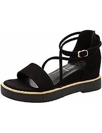 YUCH Mesdames High Heels Sandales À Lanières Bague de Pied,Rose,35