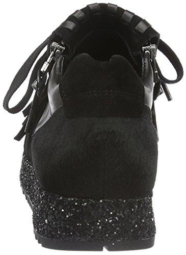 Kennel und Schmenger Schuhmanufaktur Damen Cat Sneakers Schwarz (schwarz Sohle glitter 480)