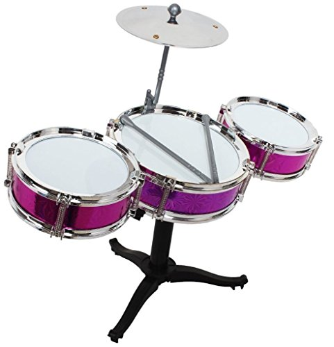 Tickles Multicolor Jazz Drum Set For Kids Drummer Boy Girl Musical Toy 31.2 cm AT-ET015