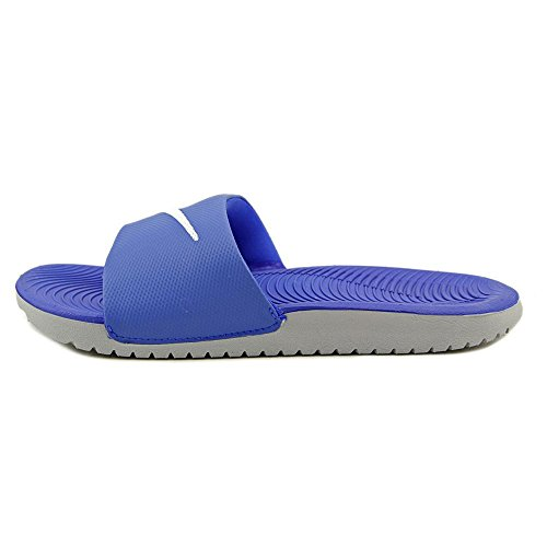 Nike Kawa Slide, Open-back mixte enfant Bleu Blanc