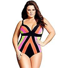 YiJee Una Pieza Bikini Tallas Grandes Trajes de Baño Sin Respaldo Monokini Push-up Bañador