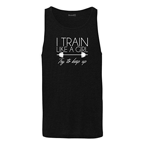 Brand88 - I Train Like A Girl Try To Keep Up, Unisex Jersey Weste Schwarz