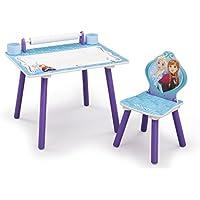 Preisvergleich für Disney Die Eiskönigin Schreibtisch / Maltisch Kinderschreibtisch Tisch + Stuhl Kindertisch Kinderschreibtisch Frozen Anna Elsa