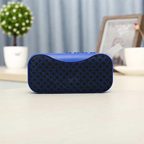 YSCYLY Mini Bluetooth Lautsprecher Tragbare Drahtlose Lautsprecher Sound System Freisprecheinrichtung Unterstützung Bluetooth TF AUX USB Eingebautes Mikrofon,Blue