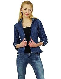 b64be21b3f27 Las mujeres del algodón caliente del invierno Árbol de la mano la impresión  de bloque Escudo chaqueta de la…