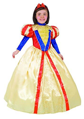 Ciao Biancaneve Costume Bambina con Gioielli, 6-8 Anni