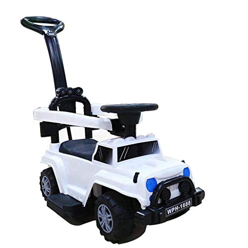 Drei-in-einem-Kinder-Twist-Auto mit Musik 2-5 Jahre altes Baby-Roller-Stepper-Drücker-Zaun-Auto Xuan - worth having (Color : White)