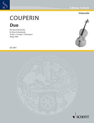 Duo en sol majeur - pour instruments de basse (vio...