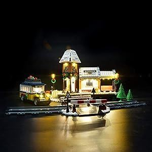 BRIKSMAX Kit di Illuminazione a LED per Stazione ferroviaria Invernale, Compatibile con Il Modello Lego 10259 Mattoncini… 0713721597345 LEGO