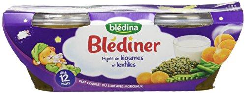 Blédîner Mijoté de Légumes/Lentilles 400 g - Pack de 6,BLEDINA,