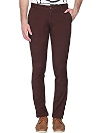 Vettorio Fratini By Shoppers Stop Mens 4 Pocket Solid Chinos - B071GRCFG7