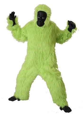 Foxxeo 40002   Deluxe Gorilla Kostüm grün Affenkostüm, Größe:M (Deluxe Gorilla-kostüm)