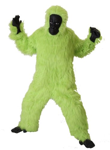 Foxxeo 40002 | Deluxe Gorilla Kostüm grün Affenkostüm, Größe:M