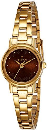 41vNYsKv5yL - Titan 917ym13 Women Gold watch