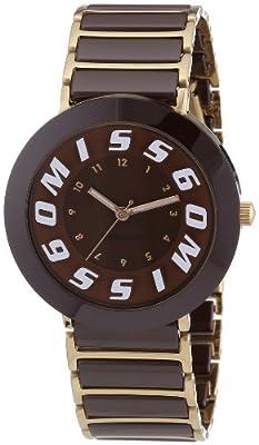 Miss Sixty SIR006 - Reloj analógico de cuarzo para mujer con correa de cerámica, color marrón