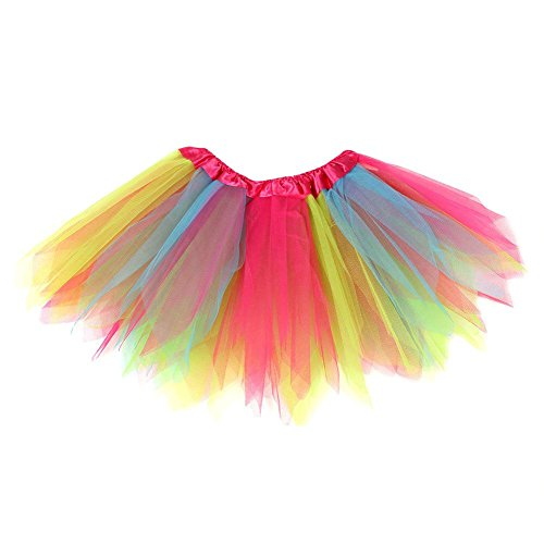 MORESAVE Kinder Mädchen Bunt Ballett Tutu Rock Prinzessin Party Dancewear Make-up Kostüme (Wrapper Kostüm)