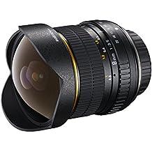 Walimex Pro AE lente ojo de pez 8mm de F3,5 DX para cámaras digitales Nikon (chip EXIF para la transferencia de datos) en negro