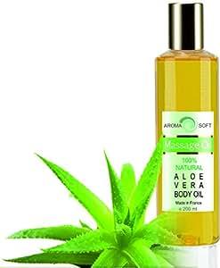 Massaggio Rilassante con olio di Vinaccioli e Aloe Vera 200 ml IDRATANTE LEVIGANTE ANTIOSSIDANTE (Aloe Vera)