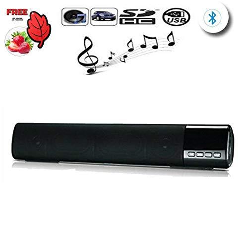 Home Bargain Bluetooth Speaker Wireless Powerful TV Sound Bar Speaker(Free Hanging air freshener) Wireless Bluetooth Home Theater Subwoofer Bluetooth Soundbar for TV Pc Laptop