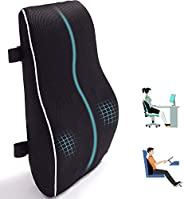 Lumbar Support Pillow for Office Chair Car Memory Foam Back Cushion for Back Pain Relief Improve Posture Large