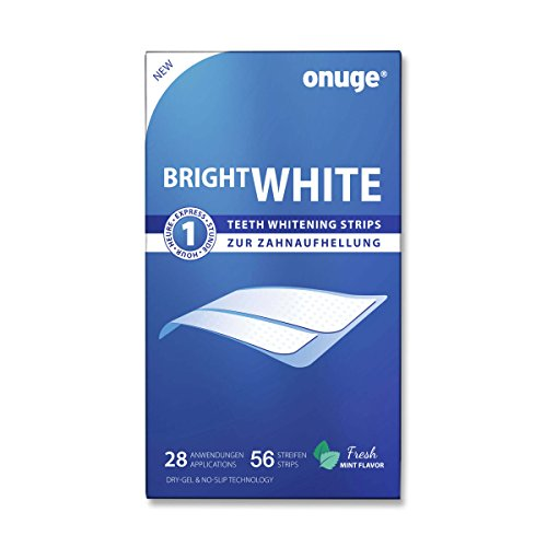 onuge Bright White-Strips, 56 Bleaching-Stripes zur Zahnaufhellung für 28 Tage
