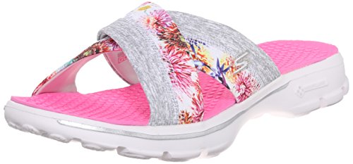 SkechersGo Walk Fiji - Sandali donna White Flower