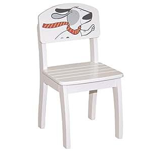 roba kinderstuhl stuhl mit lehne f r kinder holz wei lackiert hxbxt 62x33x34 cm sitzh he. Black Bedroom Furniture Sets. Home Design Ideas