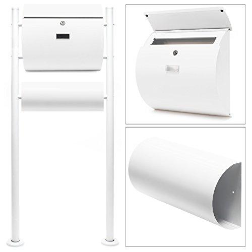 Briefkasten Set Wandbriefkasten V13 Anthrazit pulverbeschichtet Zeitungsrolle V1