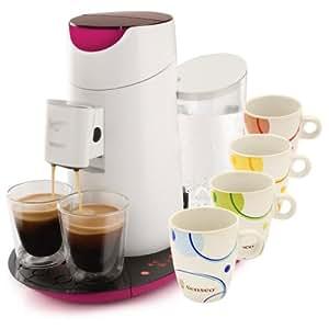 philips senseo twist hd7870 20 kaffeepadmaschine fuchsie wei 4 senseo limited edition tassen. Black Bedroom Furniture Sets. Home Design Ideas